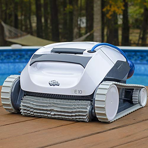 Dolphin E10 Automatic Robotic Pool Cleaner with Easy to Clean Top Load Filter Basket