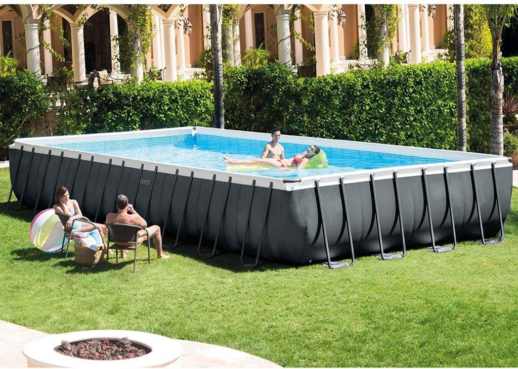Intex Ultra XTR Rectangular Above Ground Frame Swimming Pool Set